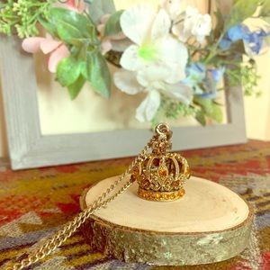 Popular Jewelry   Swarovski Jeweled Crown Pendant